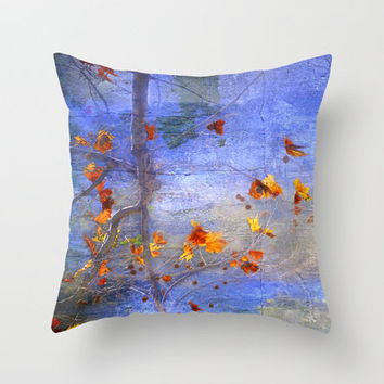 fall colors Throw Pillow by Guido Montañés | Society6