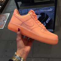 New Custom Painted Cream Orange All Sizes Nike Air Force 1's Lows
