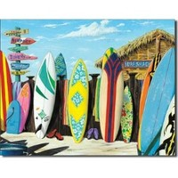 "Westmoreland - Surf Shack Metal Tin Sign 16""W x 12.5""H , 16x13"