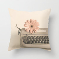 Soft Typewriter (Retro and Vintage Still Life Photography) Throw Pillow by Andreka Photography | Society6