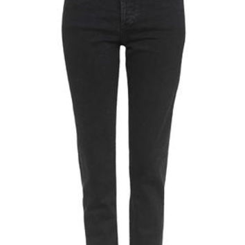 TALL MOTO Girlfriend Jeans - Washed Black