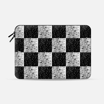 "Chess game Macbook 12"" sleeve by littlesilversparks 