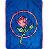 Disney's Beauty And The Beast Enchanted Rose Throw Blanket