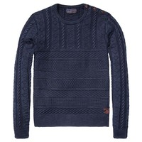 Crew Neck Pull With Shoulder Closure - Scotch & Soda