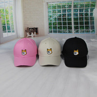 Summer Gift Doggy Retro Embroidery Baseball Cap Unique Casual Hat a12480