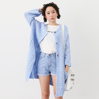 HOLYPINK x NEWNEW knit long cardigan