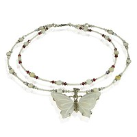 Handmade Butterfly Mother of Pearl Necklace