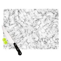 "Will Wild ""Marble"" White Gray Cutting Board"