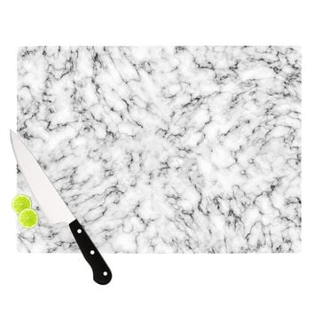 """Will Wild """"Marble"""" White Gray Cutting Board"""