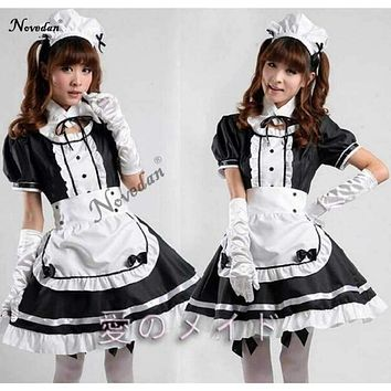 Sexy French Maid Costume Sweet Gothic Lolita Dress Anime Cosplay Sissy Maid Uniform Plus Size Halloween Costumes For Women Macchar Cosplay Catalogue