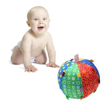 DCCKL72 Baby Children's Ring Bell Ball Baby Toy Ball Educational Baby Hand Grasp Ball Cloth Music Sense Learning