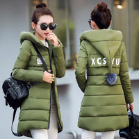 Women Winter Fashion Plus Size Long Sleeve Padded Down Coat with Hat [9378742980]
