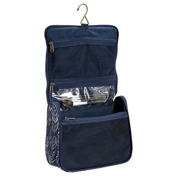 Northfield Navy Feather Ultimate Hanging Toiletry