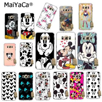 MaiYaCa Beauty Beast Bishoujo Kissing Mickey Minnie Mouse phone Case for samsung galaxy s8 s7 edge s6 edge plus s5 s9 plus case
