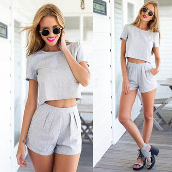 Preppy Romper Set