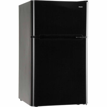 3.2 Cu. Ft. Small Mini Compact Two-Door Refrigerator and Freezer, Stainless Steel