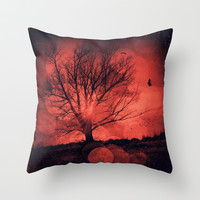 mars tree Throw Pillow by Dirk Wuestenhagen Imagery
