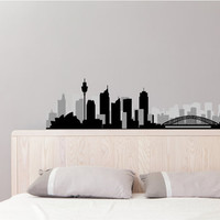 Australia New Zealand City Skyline Vinyl Wall Decal Sydney Aukland Melbourne