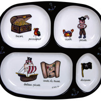 Pirate Melamine Baby Dinnerware 4pcs