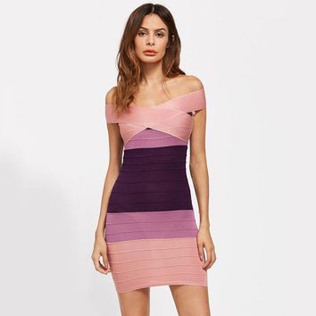 Ombre Bandage Dress