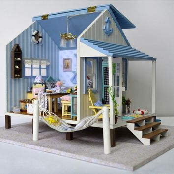 DIY doll house kit Cabin Happy Coast Lucky Home Model: 198AZS