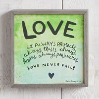 Love  Never  Fails  Street  Market  Art  From  Natural  Life