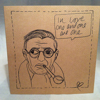 Jean-Paul Sartre quote valentines card