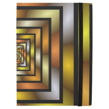 "Luminous Tunnel Colorful Graphic Fractal Pattern iPad Pro 12.9"" Case"