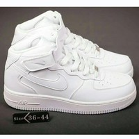 NIKE Air Force 1 Mid Women Men Fashion Casual Shoes Sneakers White I-HAOXIE-ADXJ