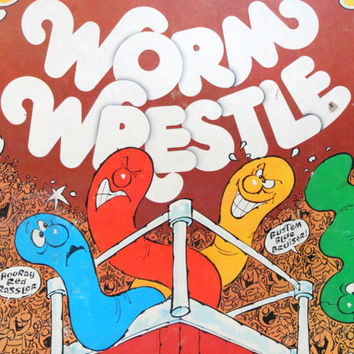 Vintage Parker Brothers Worm Wrestle Board Game 1976