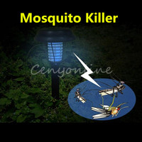 NEW White UV LED Solar Powered Outdoor Yard Garden Lawn Anti Mosquito Insect Pest Bug Zapper Killer Trapping Lantern Lamp Light