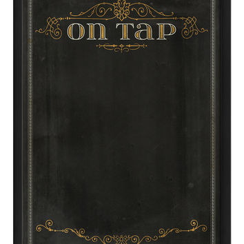 On Tap Framed Chalkboard Large (Framed)