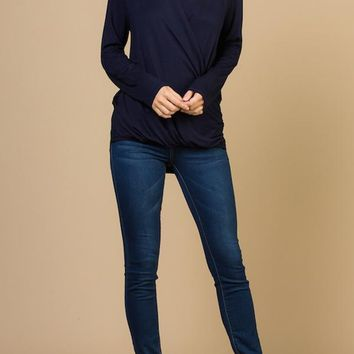 Long Sleeved Surplice Top