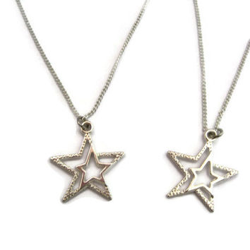 Star Necklace Set Best Friends Mother Daughter Jewelry  Star Jewelry Sibling Jewelry Set  Matching Necklace Set Matching Bridal Party Gift