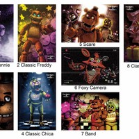 "Five Nights At Freddy's Poster Print 22x34"" Decor Foxy, Bonnie, Chica, Freddy"