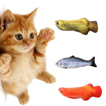 1PC Hot Fashion Stuffed Artificial Fish Plush Pet Cat Puppy Dog Toys Sleeping Toy Cat Mint Catnip Toys