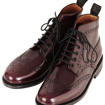 Traditional Brogue Boot by LOAKE for...