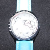 Cute Hello Kitty Watch Color(baby Blue) #WN