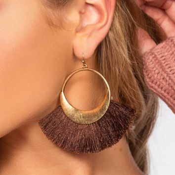 Layla Hoop Earrings - Coco