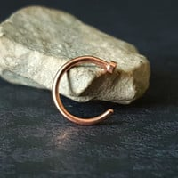 Rose Gold Nose Hoop (20G - 18G)
