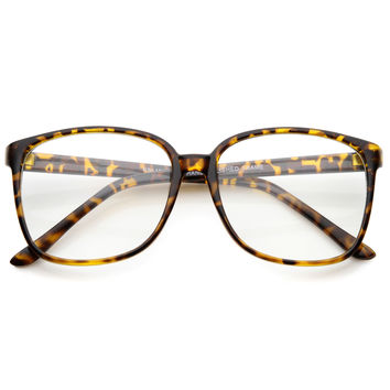 Casual Square Thin Frame Indie Clear Lens Glasses A041