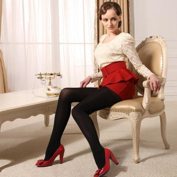 MISILCK 80D Spring Autumn Thick nylons lady pantyhose,Leg shaping silk stockings,compression tights fishnet  2017