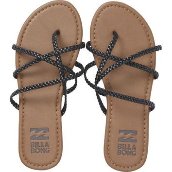 Billabong Women's Crossing It Sandals | Off Black
