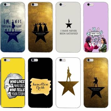 Hamilton Musical Lyrics silicone TPU Soft phone case For LG G2 G3 mini spirit G4 G5 G6 K4 K7 K8 K10 2017 V10 V20