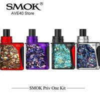 100% Original Electronic Hookah SMOK Priv One Kit  integrated kit 920mah battery whit 2ml built in Atomizer All-in-One Vape