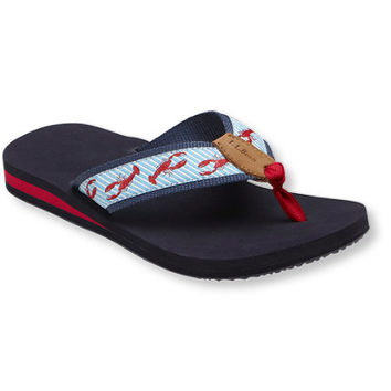Women's Maine Isle Flip-Flops, Print | Free Shipping at L.L.Bean
