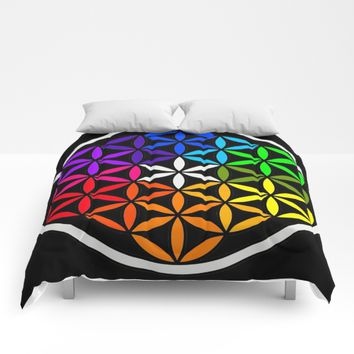 Secret flower of life Comforters by Azima
