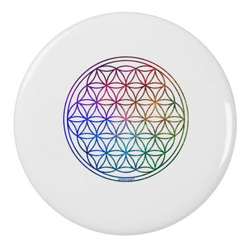 "Flower of Life Circle 2.25"" Round Pin Button"
