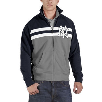 47 Brand New York Yankees Game Day Full Zip Track Jacket - Gray