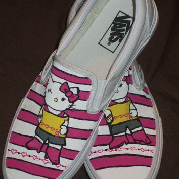 Handpainted Custom Hello Kitty Canvas Shoes